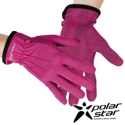 PolarStar 女抗UV排汗短手套『桃紅』P17518