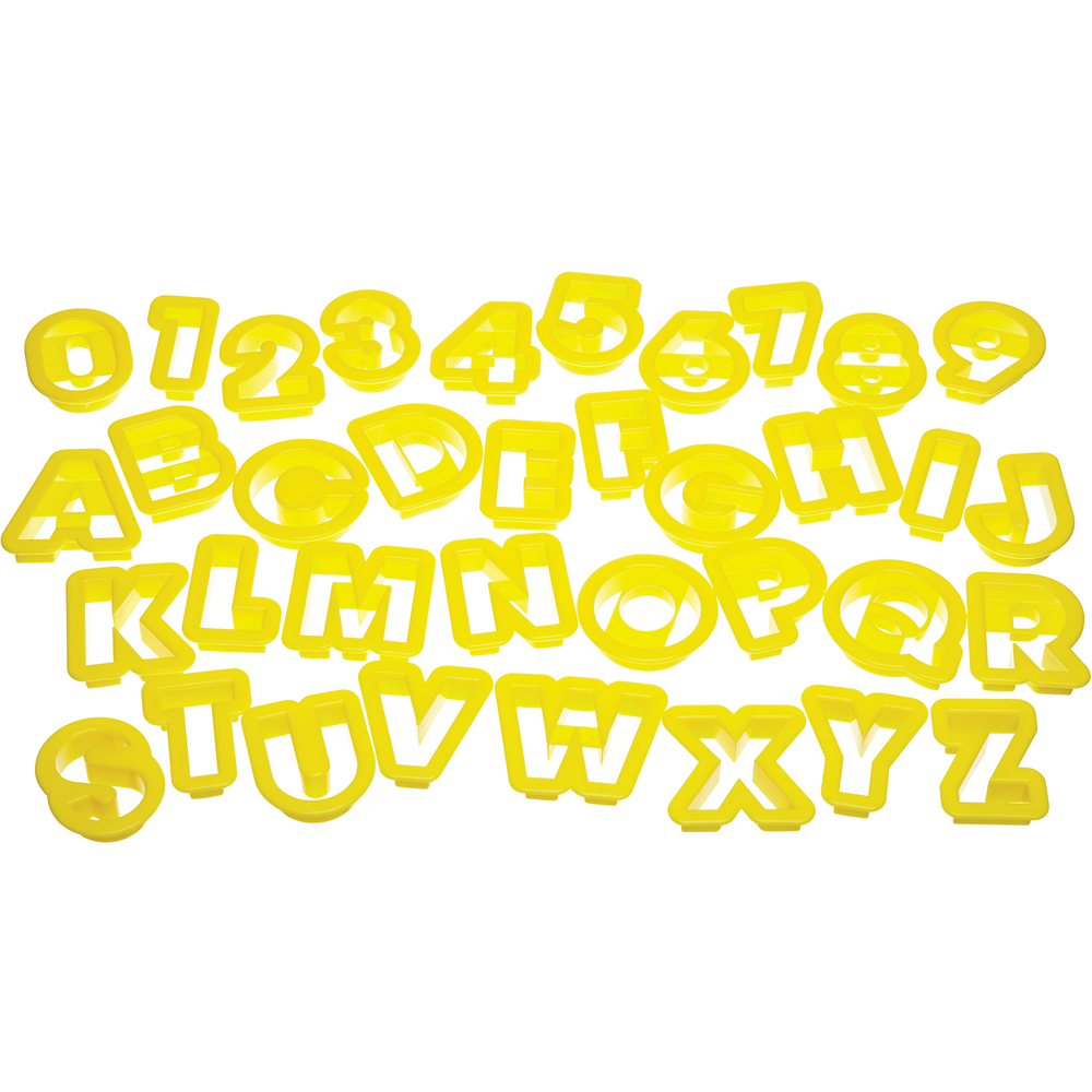 KitchenCraft 桶裝餅乾切模36件(數字字母)