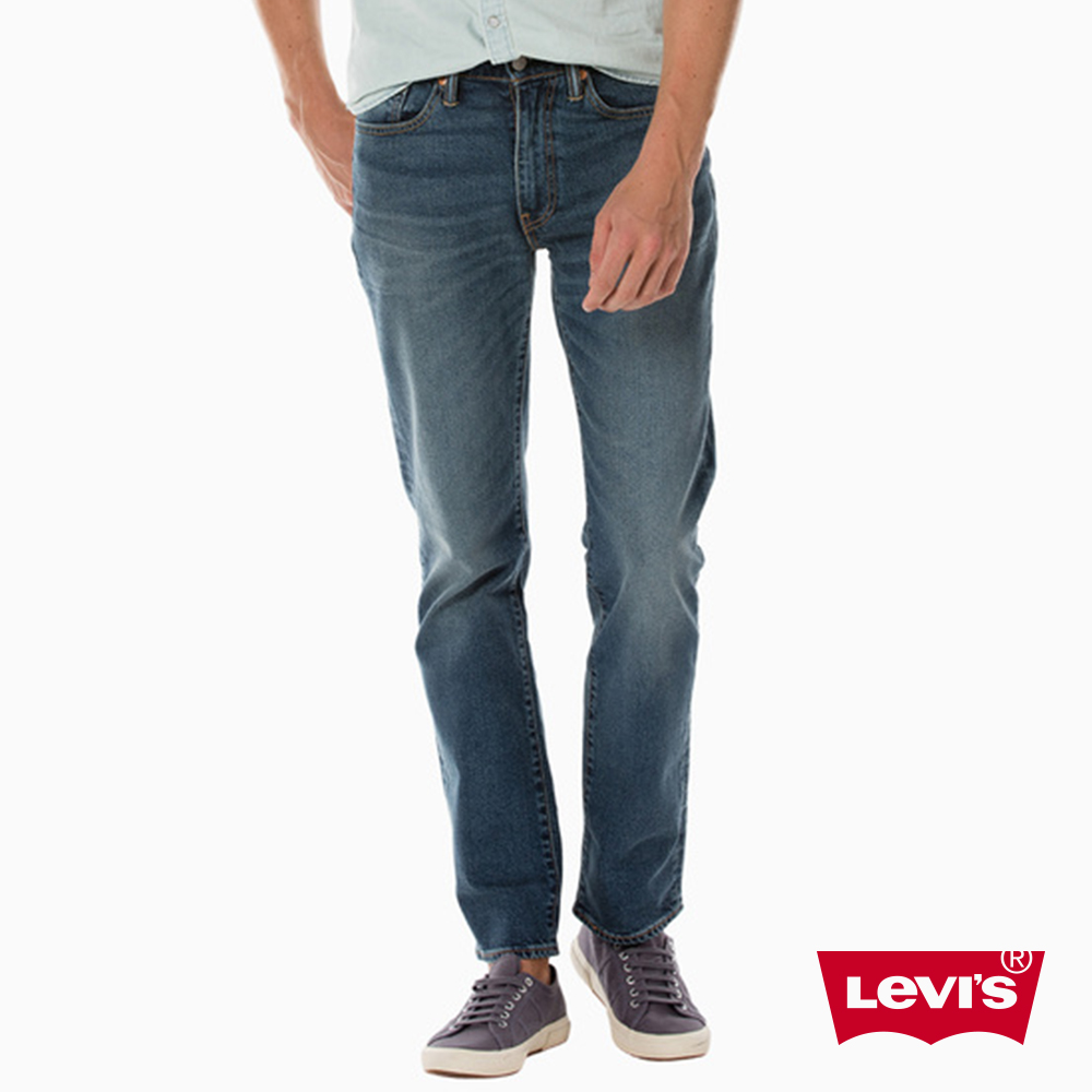 Levis 男款 514 低腰合身直筒牛仔長褲 / 彈性布料 / 刷白