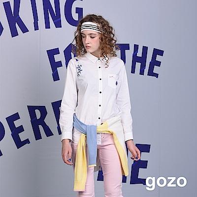 gozo 宇宙探險長版圖案襯衫(二色)