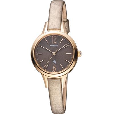 ORIENT 東方錶 LADY ROSE系列 都會時尚淑女腕錶-咖啡金/29mm