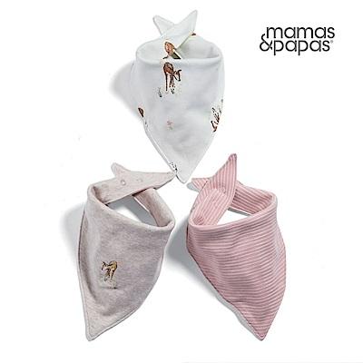 【Mamas & Papas】WTTW小鹿斑斑-雙面領巾/口水巾3件組