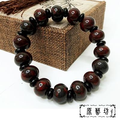 原藝坊 雞血石開運圓珠手鍊(直徑28mm)