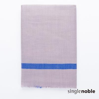 獨身貴族 藝術詩人低調千鳥格紋撞色設計圍巾(1色)