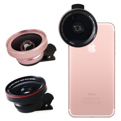 LIEQI LQ-025 雙鏡頭手機專用新設計 0.6X大廣角+10X微距 二合...
