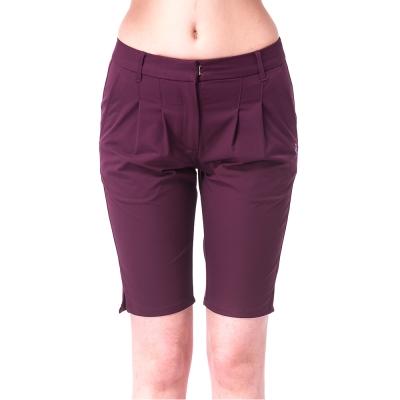 【hilltop山頂鳥】女款超潑水抗UV彈性5分褲S09F58-紫