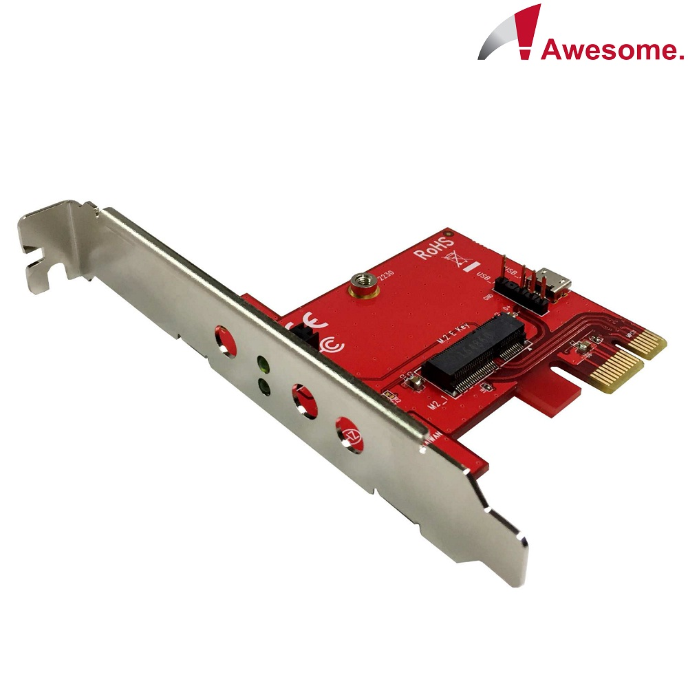 Awesome PCIe轉M.2 A-E Key無線模組轉接卡-AWD-PE-150E