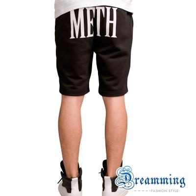 Dreamming 韓系潮流METH膠印棉質短褲