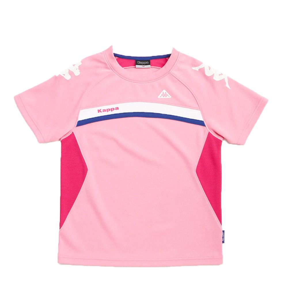 KAPPA義大利小朋友吸濕排汗速乾圓領衫~粉紅色