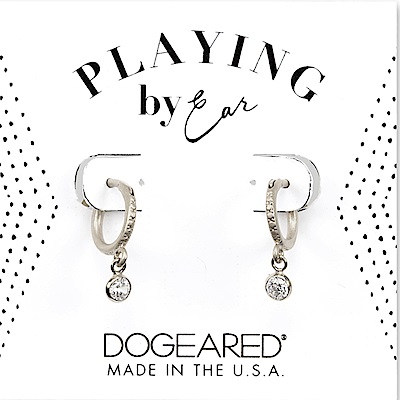 Dogeared 經典圓鑽耳環 垂墜式耳環 銀色小圓耳環 細緻百搭
