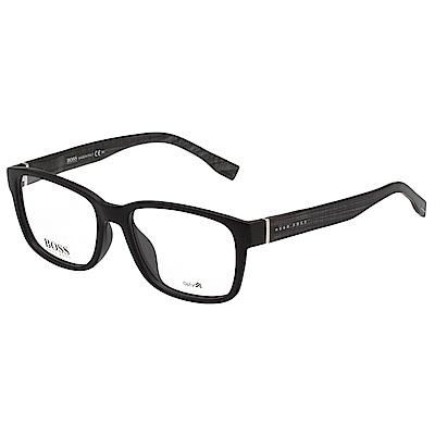 HUGO BOSS 時尚光學眼鏡 (霧面黑)BOSS0810F
