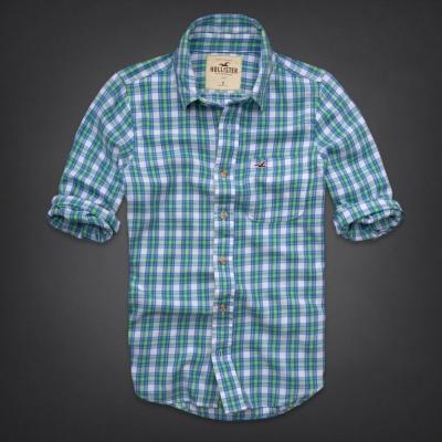 Hollister HCO 長袖 襯衫 藍色 0156