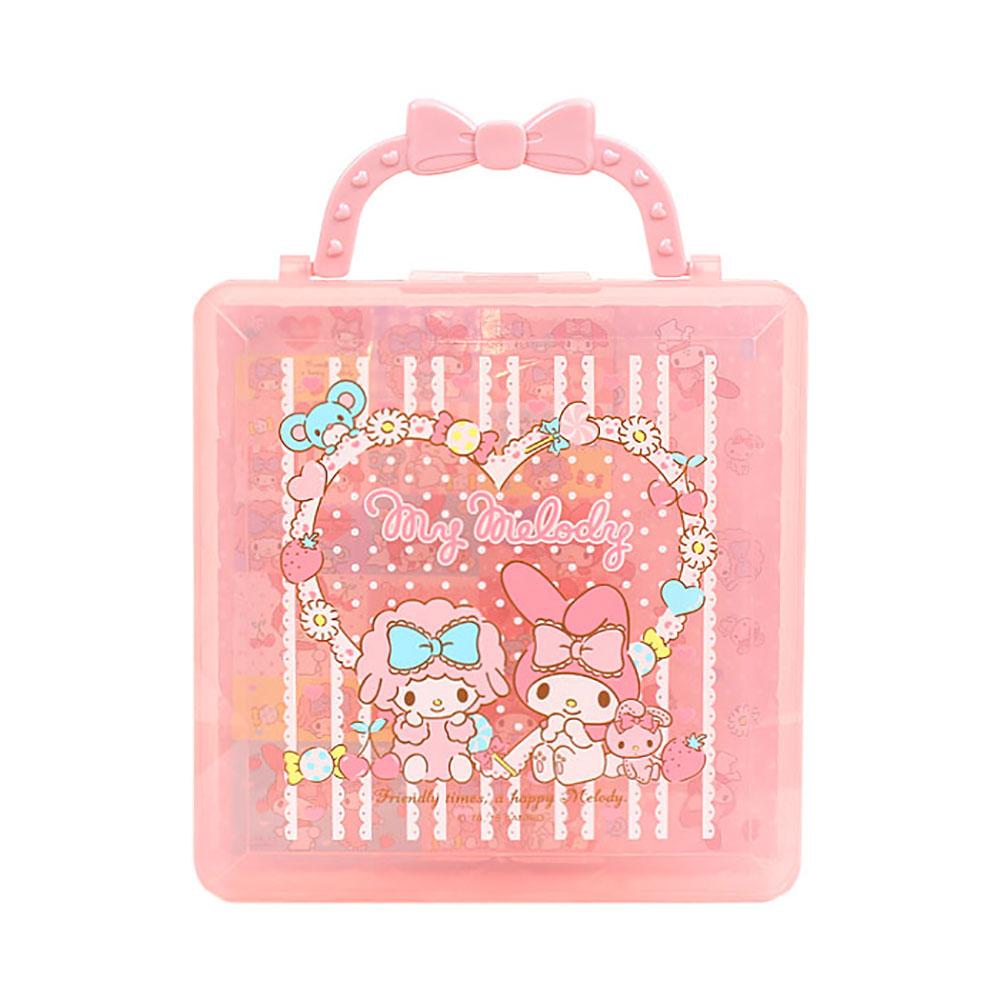 Sanrio 美樂蒂折紙便條紙組附收納提盒(甜點花圈)