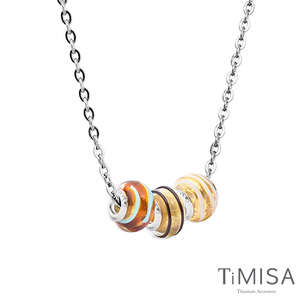 TiMISA 琉璃串珠 純鈦項鍊 (M02004H) 套組