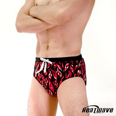Heatwave-健泳系-熱騰火焰-三角泳褲-綁帶