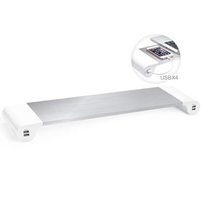 E-books K17 鋁合金4.2A四孔USB多功能支撐架