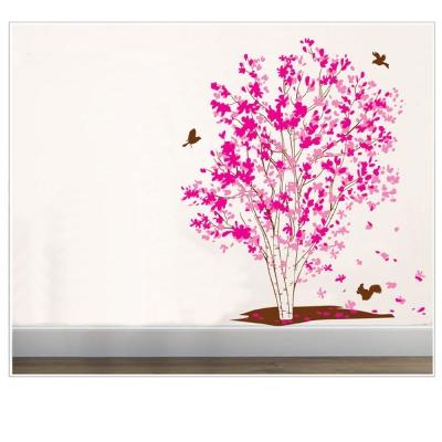 B-072花草系列-紅楓樹大尺寸高級創意壁貼 / 牆貼