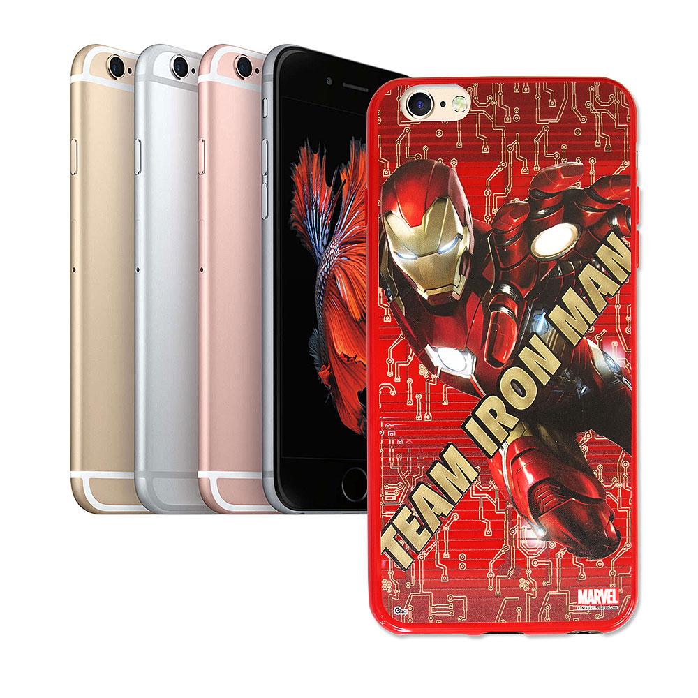 漫威 iPhone 6/6s plus 5.5吋復仇者聯盟 美國隊長3 彩繪軟殼(鋼鐵人)