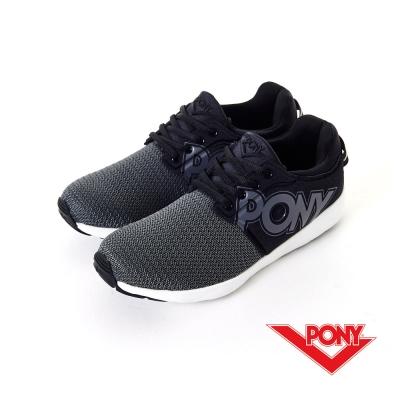 PONY- FLUFFY LITE系列-舒適休閒鞋-黑-男