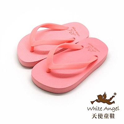 天使童鞋 馬卡龍糖果海灘拖鞋 (中童-超大童)K810-粉