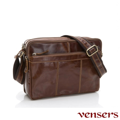 vensers小牛皮潮流個性包~斜肩背包(NE883701黃油皮大號)