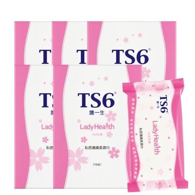 TS6護一生 私密護膚柔濕巾(5包/盒)x5入