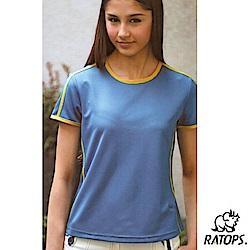 【瑞多仕-RATOPS】女款 輕量透氣圓領短袖T恤_DB7471 土耳其藍 V