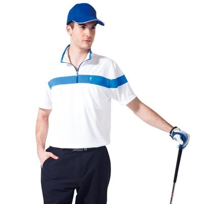 【SPAR】吸濕排汗男版短袖POLO衫(SP48199)白色