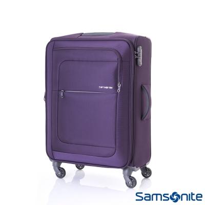 Samsonite新秀麗 24吋Populite四輪TSA超輕量可擴充布面行李箱(紫)