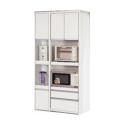 品家居 維多3尺三門三抽餐櫃組合-90x40x181.5cm免組