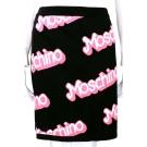 MOSCHINO Barbie系列走秀款塗鴉針織包裙