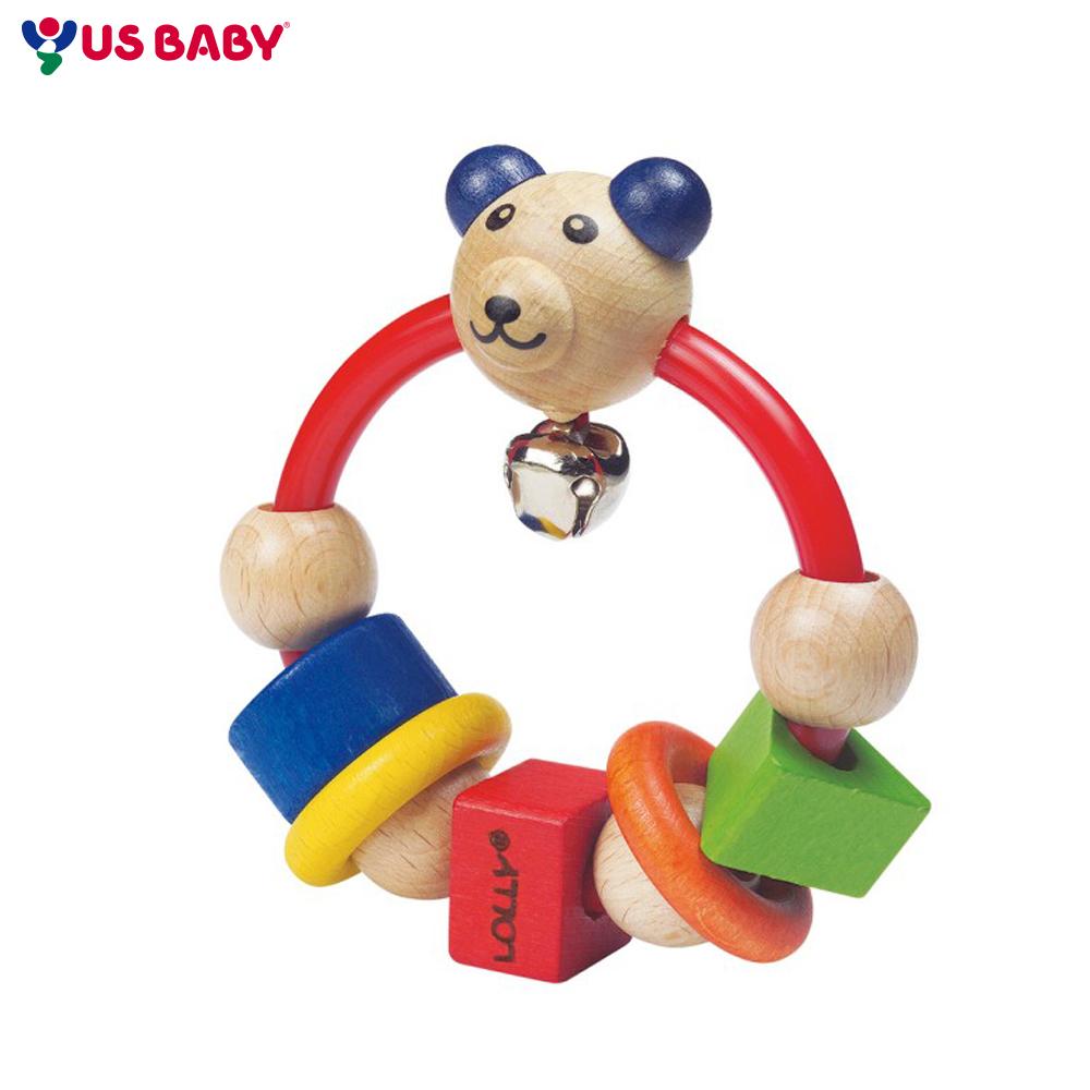 任選-【LOLLY】木製玩具- 微笑熊搖鈴