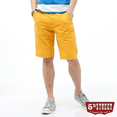 5th STREET 街霸休閒短褲-男-土黃色