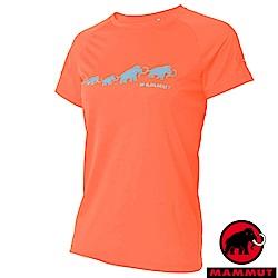 【瑞士 MAMMUT 長毛象】女新款 彈性透氣短袖圓領T恤_小檗紅