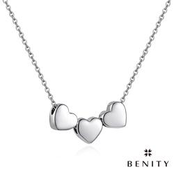 BENITY 心.相遇 愛心設計 925銀 316白鋼鍊 女項鍊