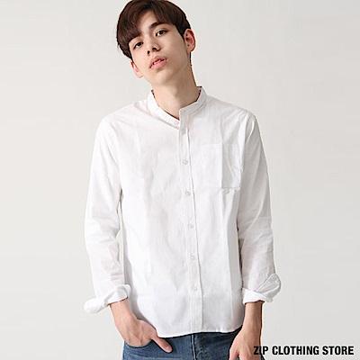 立領長袖襯衫(20色) ZIP日本男裝