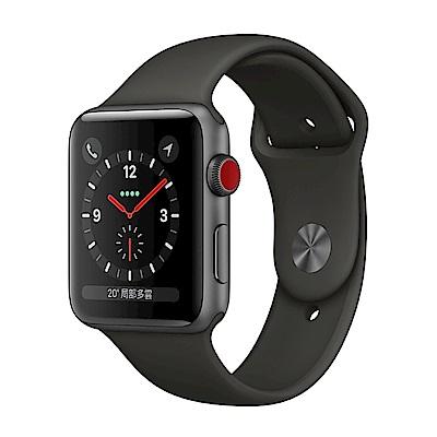 Apple Watch GPS+Cellular 42mm 太空灰鋁金屬殼/灰色運動錶帶