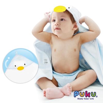 PUKU造型連帽紗布浴巾75*75cm