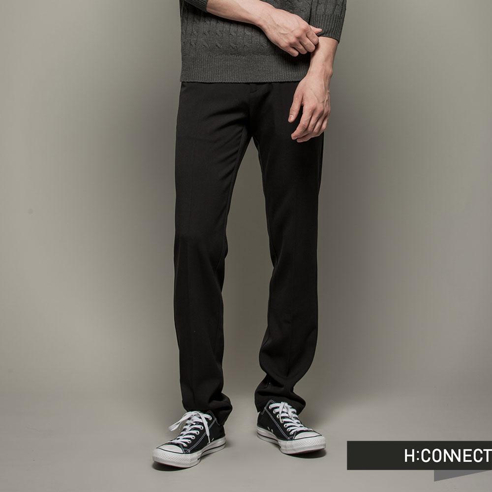 H:CONNECT 韓國品牌 男裝 - 修身直筒休閒褲 - 黑