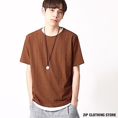 民族風三件組短袖T恤(4色) ZIP日本男裝