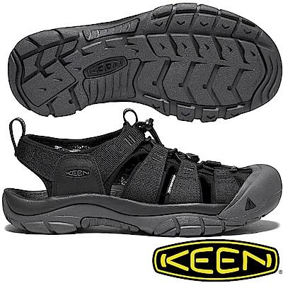 KEEN 1018803黑色 NewPort Eco 男戶外護趾涼鞋