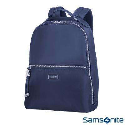 Samsonite新秀麗 Karissa Biz金屬吊飾時尚女用後背包(深藍)