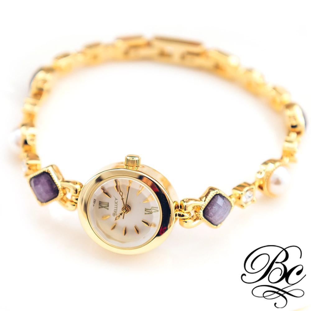 BELLUCY 魅力女伶手鍊錶(時尚金)