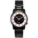 GOTO 多層次雙鏤空腕錶-玫瑰金x黑/43mm