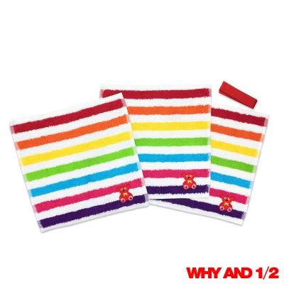WHY AND 1/2 方巾3件組彩條