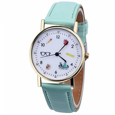 Watch-123 小孩對話-時尚隨行遊戲化童趣手錶-薄荷綠色/36mm