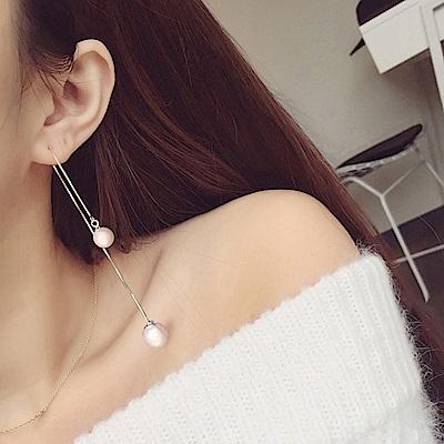梨花HaNA 韓國925銀女神之美長珍珠耳線耳環