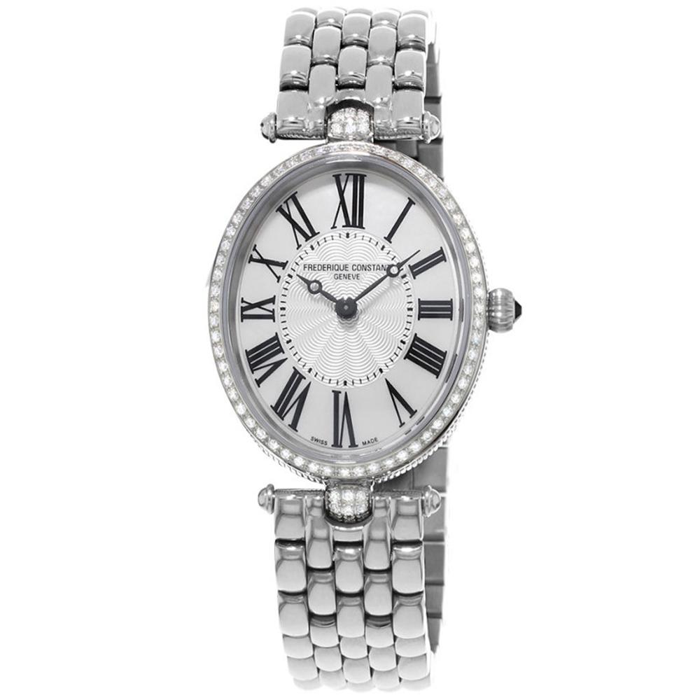 康斯登 CONSTANT  CLASSICS百年經典系列ART DECO腕錶-銀