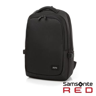 Samsonite RED TEDWIN休閒時尚中性筆電後背包-14吋(黑)
