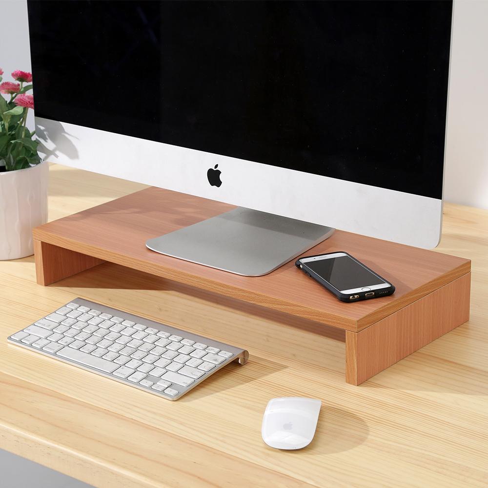 BuyJM櫸木色低甲醛防潑水桌上置物架/螢幕架-DIY